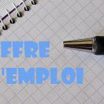 Une offre d'emploi pour vous!